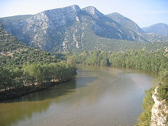 Nestos (river) - Image: Nestos or Mesta River Greece Bulgaria