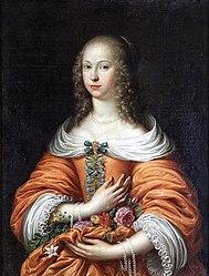 Caspar Netscher: Portrait of Anna Maria Radziwiłł