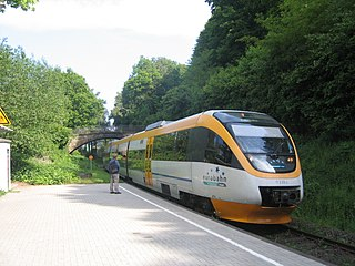 Railcar single railway motor coach propelled by an internal combustion engine