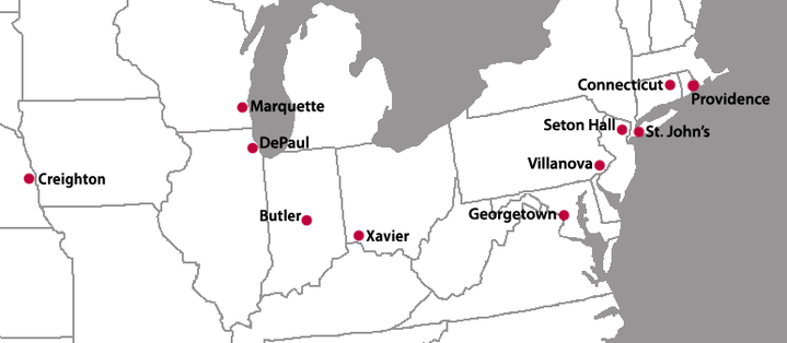 New Big East Locations