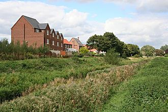 Horncastle - New housing by the River Bain