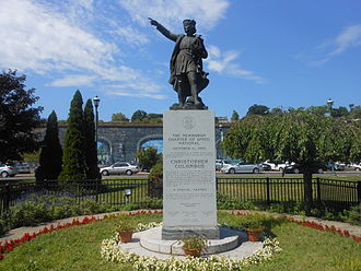 Newburgh, New York - Christopher Columbus Statue on Newburgh's Waterfront