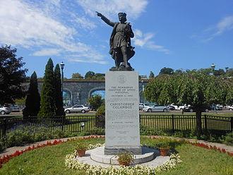Newburgh, New York - Christopher Columbus Statue on Newburgh's Waterfront