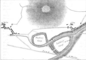 Wadbury Camp - Image: Newbury, Wadbury and Tedbury camps 1836