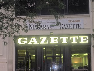 Niagara Gazette - The Niagara Gazette is published daily except Tuesday