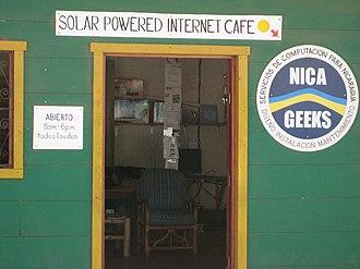Internet café - A solar powered Internet café in San Juan del Sur, Nicaragua.