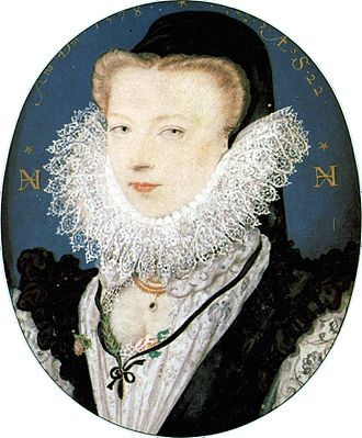 Nicholas Hilliard - Hilliard's wife Alice, an example of the influence from French art in his work. 1578