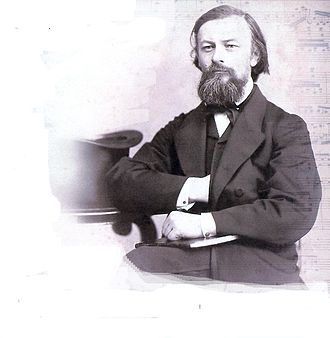 Nikolai Zaremba - Photograph of Nicolai Zaremba, made around 1860