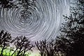 Night time Dinosaur Provincial Park with star trails.jpg