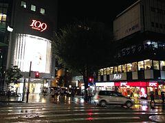 Night view near Shizuoka 109 Building
