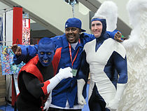 Nightcrawler & Archangel cosplayers at WonderCon 2010 3.JPG