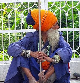 Nihang - Nihang at Anandpur, India.