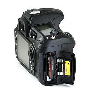 Nikon D300S - Image: Nikon D300s Open Battery Door
