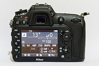 Nikon D7200 - Image: Nikon D7200 01 2016 img 3 body rear