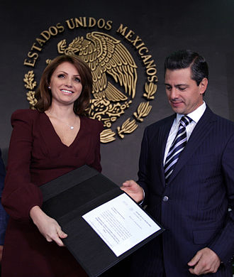 Angélica Rivera - Rivera and her husband Enrique Peña Nieto