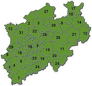 郡の区分図
