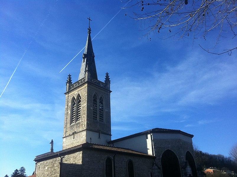 Notre-Dame-des-Marais de Montluel,côté Nord.