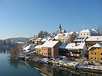 Breg, the old part of Novo Mesto along the Krka River