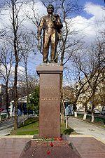 Statue érigée en l honneur de Leonid Brejnev, à Novorossiysk, en Russie