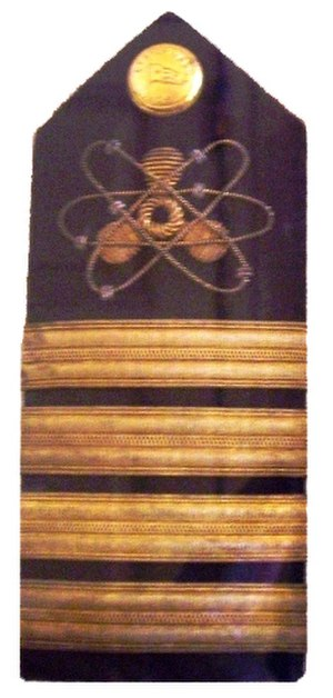 Nuclear marine propulsion - Engineer epaulette from Savannah