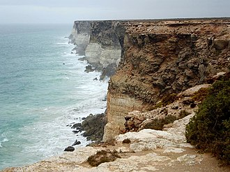 Nullarbor National Park - Nullarbor National Park, February 2008, when its extent included the continental coastline