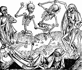 Danse Macabre - The Dance of Death (1493) by Michael Wolgemut, from the Nuremberg Chronicle of Hartmann Schedel