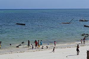 Nyali Beach from the Reef Hotel during high tide in Mombasa, Kenya 25.jpg