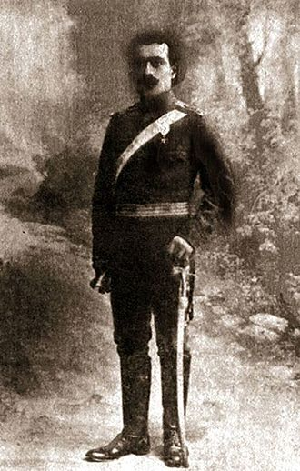 Garegin Nzhdeh - Nzhdeh as a Bulgarian Army Officer during the Balkan Wars