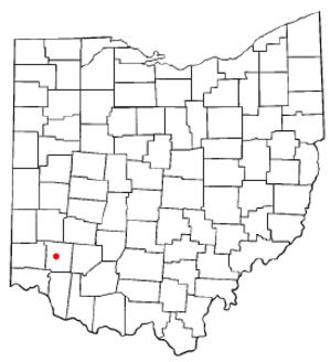 Lebanon, Ohio - Image: OH Map doton Lebanon