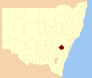 Oberon Shire - Location in New South Wales