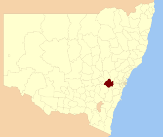 Oberon Council - Location in New South Wales
