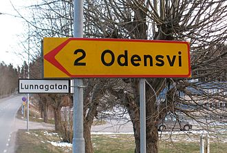 "Vé (shrine) - Odensvi, meaning ""Odin's shrine"", is one of numerous toponyms named after Odin."