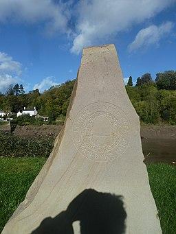 Offa's Dyke Path marker stone