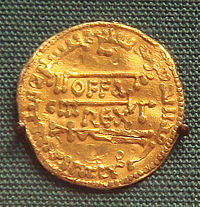 A Mancus Or Gold Dinar Of The English King Offa Mercia 757 796 Copy Dinars Abbasid Calip 774 It Combines Latin Legend