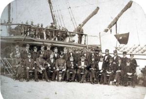 William King-Hall - Captain William King-Hall and crew, HMS Indus,  Halifax, Nova Scotia, 1860