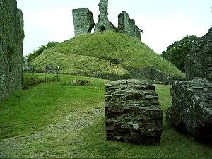 Baldwin FitzGilbert - Surviving motte and ruins of keep of Okehampton Castle, built by Baldwin FitzGilbert and caput of his feudal barony of Okehampton