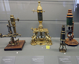 Microscope - 18th-century microscopes from the Musée des Arts et Métiers, Paris.