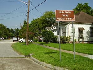 Sixth Ward, Houston - Old Sixth Ward Historic District