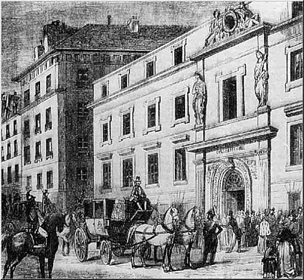The old Paris Conservatoire building, where Saint-Saens studied Old Conservatoire de Paris building, early19th century.jpg