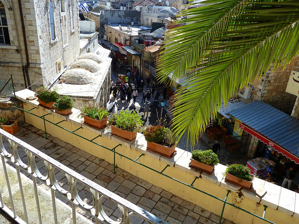Old Jerusalem Via Dolorosa View from the Austrian Hospice