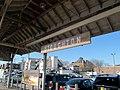Old station sign at Stoughton, April 2016.JPG