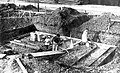 Olovslunds småstugeområde, grundplatta till husbygge iordningställs, 1927,jpg.jpg
