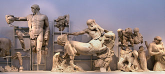 Archaeological Museum of Olympia - Pediment of the Temple of Zeus.