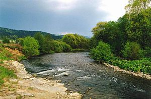 Cieszyn Silesia - Olza River in Hrádek/Gródek