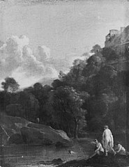 Landscape with Bathing Women