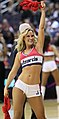 One cheerleading girl at Hawks at Wizards March 24, 2012.jpg