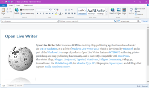 Open Live Writer - Image: Open Live Writer Version 0.5
