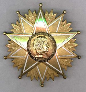Orders, decorations, and medals of Chile - Order of Bernado O'Higgins I Class Breast Star