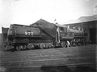 Oregon Short Line Railroad - Image: Oregon Short Line locomotive number 877