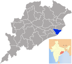 Location in Odisha, India